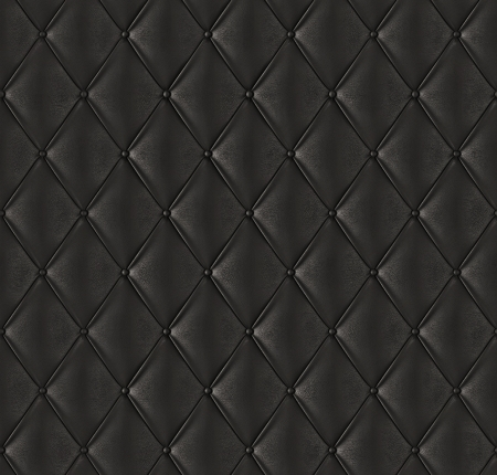 leather background: Black quilted leather  Stock Photo