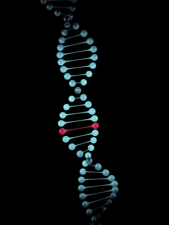 Blue model of the dna molecule photo