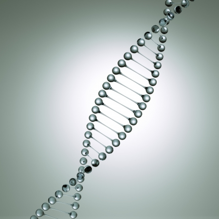 metall and glass: Glass model of the dna molecule