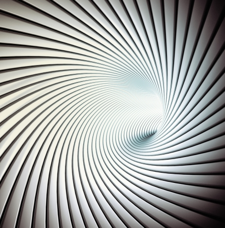Abstract spiral tunnel photo