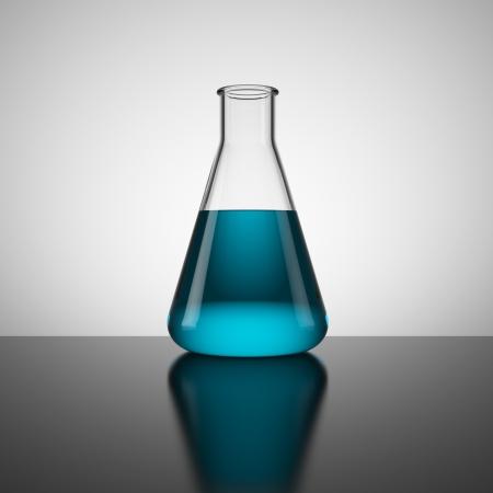 Test tube with blue liquid Stock Photo - 16033237