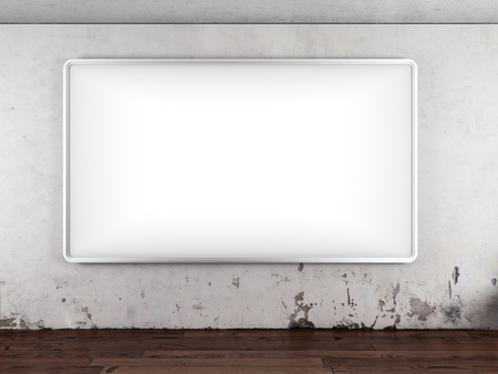 Blank billboard in interior photo