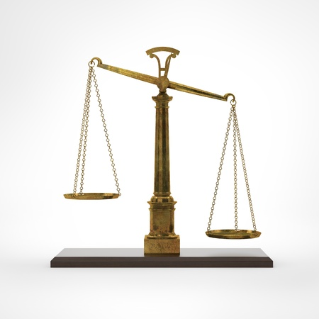 Gold classic scales of justice Stock Photo - 16215471