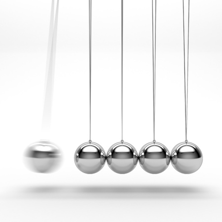 cradle: Newton s cradle Stock Photo