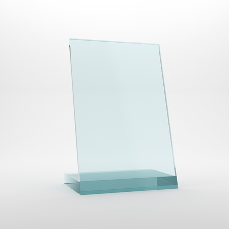 Blank glass award plate photo