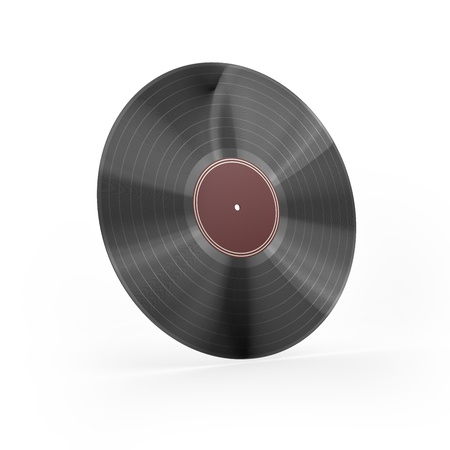 i label: Vinyl with red label i