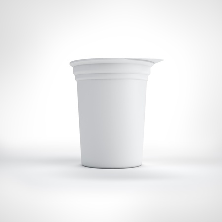 Big white food plastic container photo