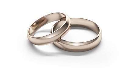 gold rings: Gold wedding rings Stock Photo
