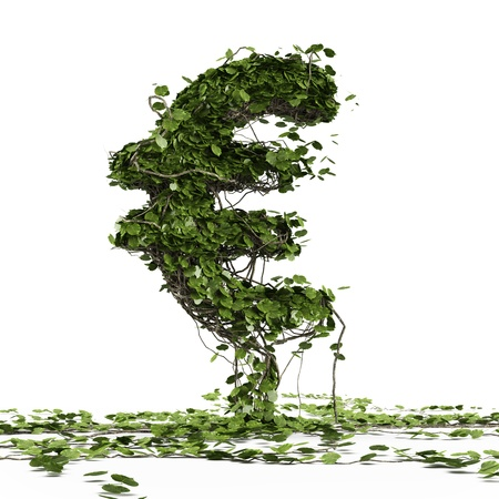 Euro currency symbol  shaped plant Stock Photo - 16318095