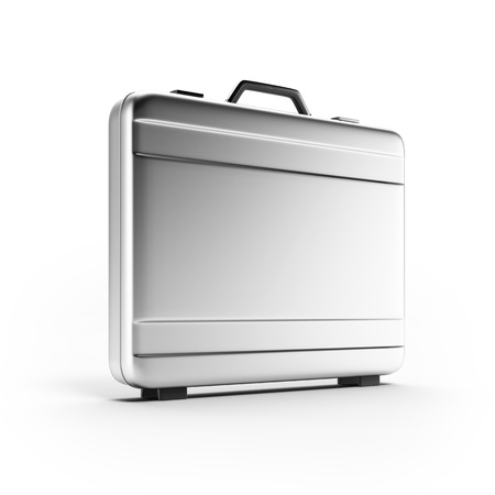 Silver suitcase Stock Photo - 16318058