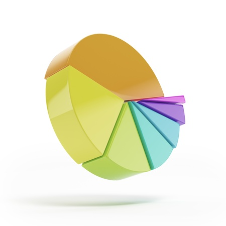 Pie graphs isolated Stock Photo - 16314114