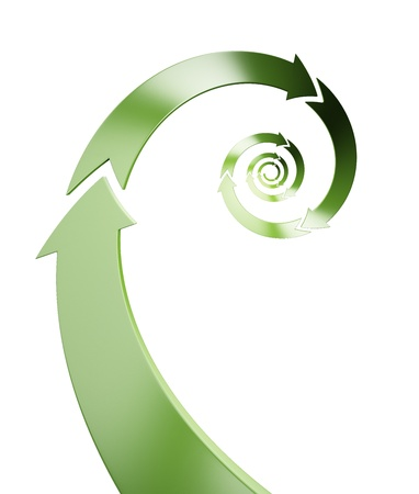 Abstract spiral recycle symbol photo