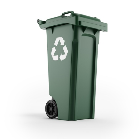 Recycling bin with recycling symbol Stock Photo - 16318057