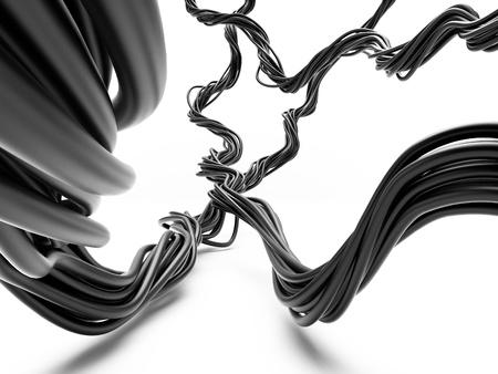 redes electricas: Los l�os de cables el�ctricos en perspectiva