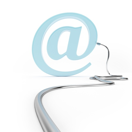 Email Symbol with Cable photo