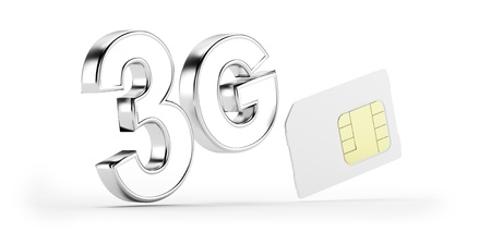 sim: 3G SIM card Stock Photo