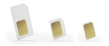 Sim, micro-sim and nano-sim cards Stock Photo - 16314102