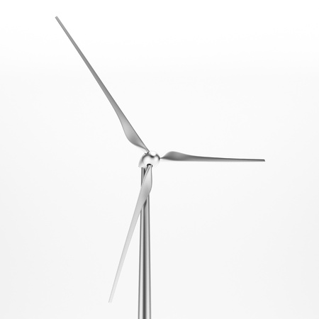 wind mills: Wind turbine isolated  close-up