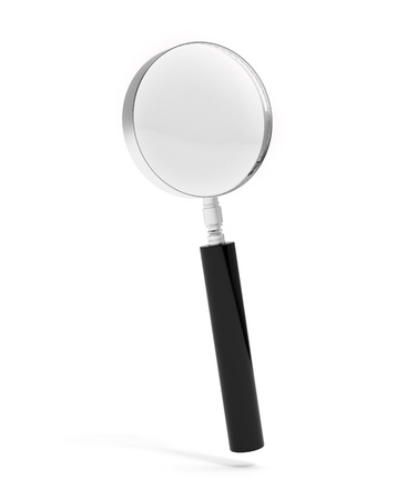 len: Magnifying glass isolated on white background