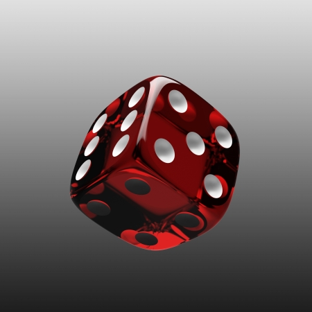 Shiny red dice photo