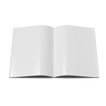 spread sheet: Open magazine  with blank pages