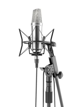 music production: Metal studio microphone