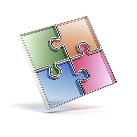 Color Jigsaw Puzzle Stock Photo - 16440776