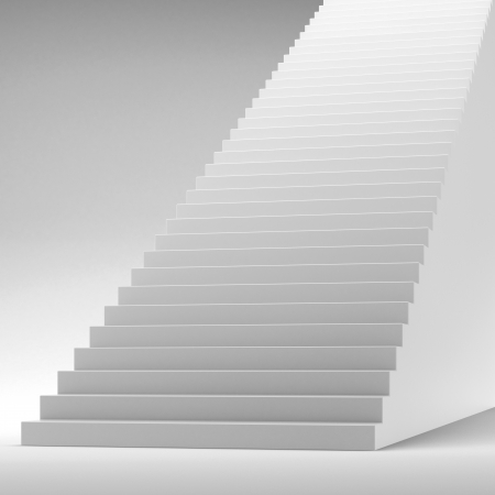 White stairway isolated on white photo