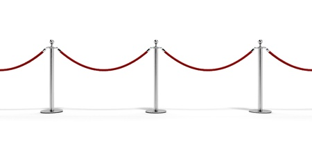 velvet rope barrier: Tiled  stand barriers Stock Photo