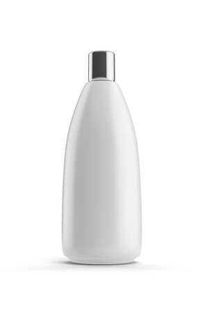 hair shampoo: White shampoo bottle Stock Photo