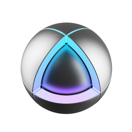 sphere icon: Hgh tech icon Stock Photo