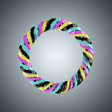 polygraphic: Spiral spring of CMYK colors