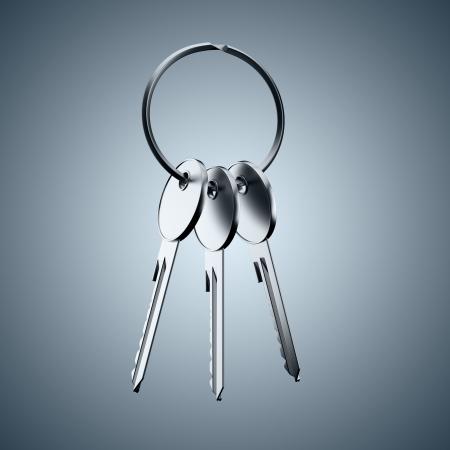 A bunch of keys Stock Photo - 16557494
