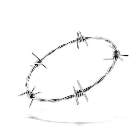Barbed wire wreath photo