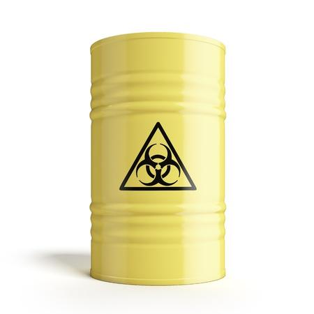 barell: Barrel with biohazard symbol Stock Photo