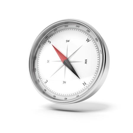 Metalen kompas Stockfoto