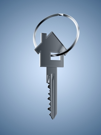 key in chain: Key shaped as house