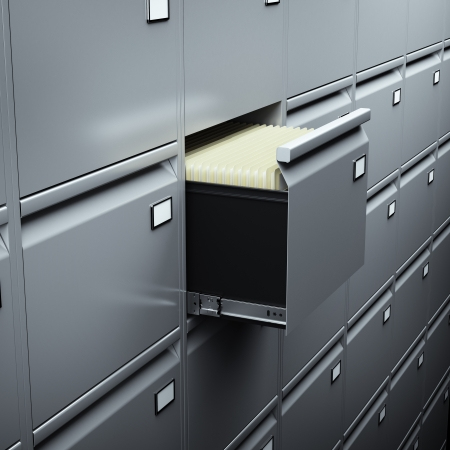 File cabinet with documents  photo