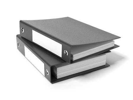 Two black ring binders Stock Photo - 16633454