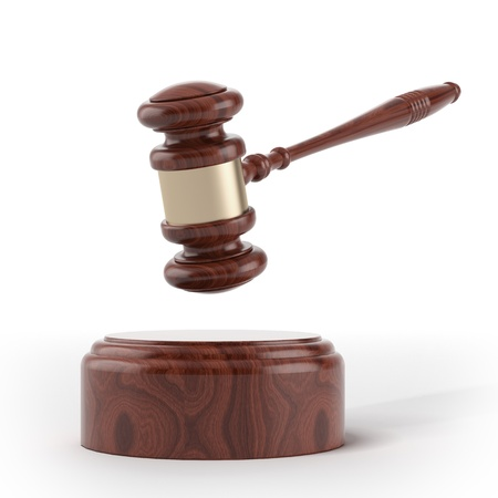 Wooden brown gavel and soundboard Stock Photo - 16633354