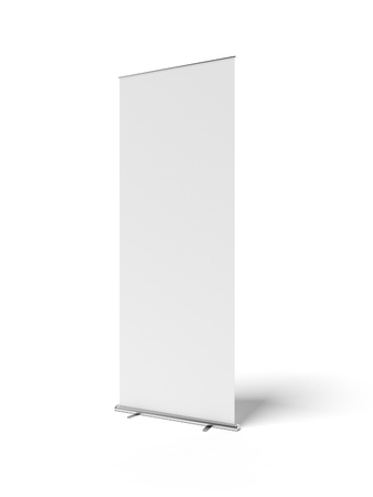 Blank roll-up banner photo