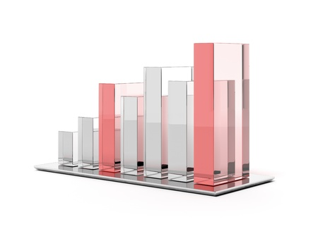 Futuristic simple glass bar graph photo