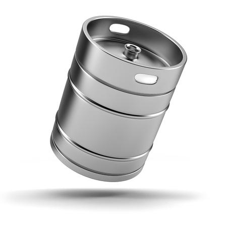 brouwerij: Metalen biervat Stockfoto