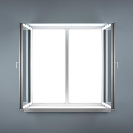 Opened plastic window Stock Photo - 16633468