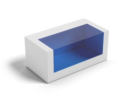 Cardboard Box with a transparent plastic window  Stock Photo - 16633315