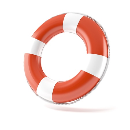 life belt: Red lifebuoy Stock Photo