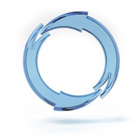Blue circular arrows  photo