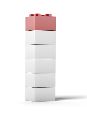 White and red plastic toy blocks  photo