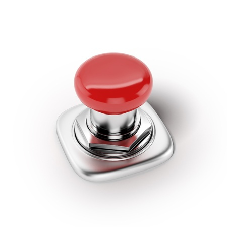 panic button: Red button  Action concept