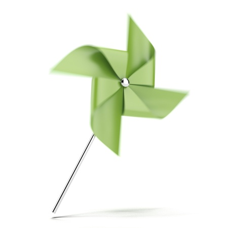Green pinwheel  photo